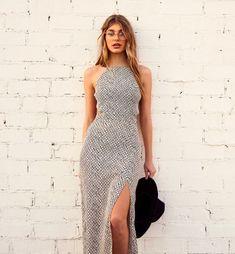 camila morrone look long dress