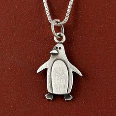 //etsy// Penguin necklace on Etsy, $30.00 @'Krypto Kris Moon