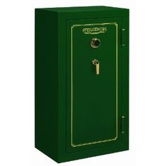 The Stack-On FS-24-MG-C 24-Gun Fire Resistant Safe with Combination Lock, Matte Hunter Green has 2-way locking 1″ steel live action locking bolts and up to 5 locking points.