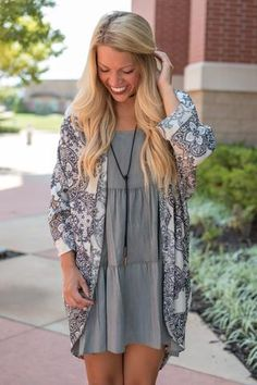 Lace print cuffed cardigan ivory. If you like our solid cuffed chiffon cardigans you'll love this printed version in perfect Fall colors. We love wearing these