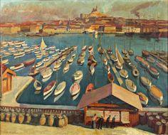 Charles Camoin: Le port de Marseille, c. Art Fauvisme, Ecuador, Maurice De Vlaminck, Chile, Culture Art, Watercolor Sea, Georges Braque, Boat Painting, Henri Matisse