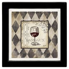 Thirstystone Ambiance Coaster Set, Harlequin Wine Glass Margaux, Multicolored -- You can find more details by visiting the image link.