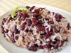 Červené fazole s paprikou a rýží
