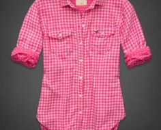Camisa Hollister feminina xadrez em G