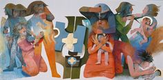 Arcabas. Le massacre des Innocents. 2002. Bruxelles. Palais archiépiscopal de Malines - Bruxelles – Belgique. Polyptyque de l'Enfance du Christ. 11 tableaux