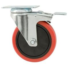 Everbilt 5 in. Polyurethane Caster with Brake-4120945EB at The Home Depot 5 in. Polyurethane caster resists grease, oil, cutting, chunking, and other abrasive wear. It can be used on virtually any surface from factories to garages and more. Weight rating for single caster: 330 lbs.