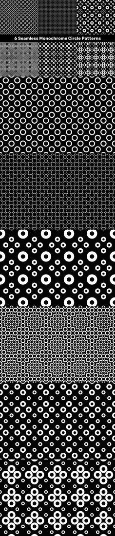6 Seamless Monochrome Circle Patterns #background #PremiumVectorGraphics #seamlesspattern #CheapPattern #PremiumBackground #element #VectorImage #PremiumVectorBackgrounds #sale #CheapBackgrounds #cheap #AbstractBackgrounds #design #BackgroundBundles #wallpaperhalftone #CheapVectorBackground #DiscountBackground #seamlesswallpaper #seamless