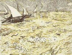 Vincent van Gogh: Fishing Boats at Sea Arles: 31 July-6 August 1888 (New York, S.R. Guggenheim Museum)