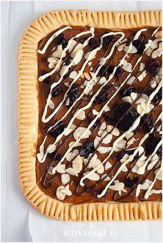Mazurek kajmakowy ze śliwkami - I Love Bake No Bake Pies, Tart, Easter, Baking, My Love, Ethnic Recipes, Muffins, Food, Breads