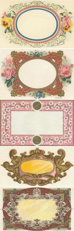 vintage labels by catherine.voci