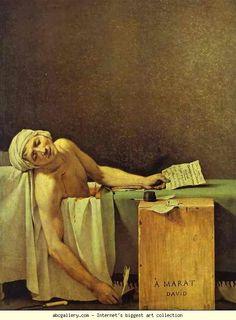 Jacques-Louis David. Death of Marat. 1793. Oil on canvas. Musées Royaux des Beaux-Arts de Belgique, Brussels, Belgium