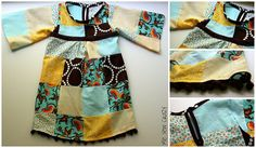 Tunic dress, tutorial.  Also includes link to instructions for making patchwork fabric.  So cute for the fall!!