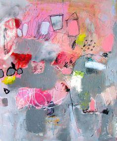 buried pink treasure work on cardboard wendy mcwilliams