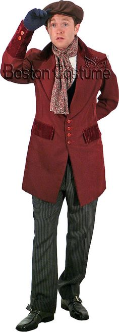 ∫ Bob Cratchit ∫ One way of portraying him.  This costume doesn't thrill me, but I do like the way it's a little odd and misshapen - his clothes are not perfectly styled or tailored.