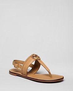 Tory Burch Flat Thong Sandals - Selma Slingback