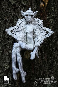 Crochet Fairy, Crochet Dragon, Crochet Patterns Amigurumi, Crochet Dolls, Crotchet Patterns, Owl Eyes, Holly Leaf, Pattern Library, Snowy Owl
