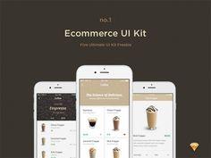 E-commerce free UI kit for Sketch