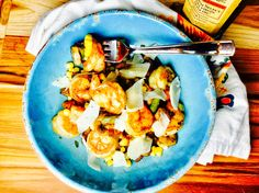 Food Fitness by Paige: Shrimp Asparagus Stir Fry with Corn and Mushrooms