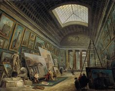 Hubert Robert, Imaginary View of the Grande Galerie in the Louvre, 1789, oil on canvas, Paris, Musée du Louvre.