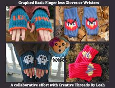 SICK LIL MONKEYS: How to make graphed Finger less gloves or Wristers
