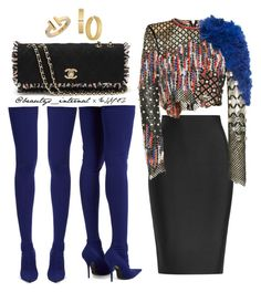"""Bardi."" by t-falana on Polyvore featuring Roland Mouret, Balmain, Balenciaga, Chanel and Tiffany & Co."