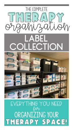 The Complete Therapy Organization Label Collection. Whether you are an Occupational Therapist, Physical Therapist, or Speech Language Pathologist, you will find a label for virtually all your therapy space needs. Ot Therapy, Speech Therapy, Aba Therapy For Autism, Hand Therapy, Therapy Ideas, Organizing Labels, Binder Organization, School Organization, Pediatric Occupational Therapy