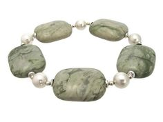 Pastel Green & Cream Peace Jade, Swarovski Pearls & Sterling Silver Chunky Bracelet from Silver Sensations.  A wonderfully simple yet elegant handmade bracelet with combination of green cream & Sterling Silver. £13.80 + P & P #craftfest #craftbiz #eshopsUK http://www.silver-sensations.co.uk/pastel-green--cream-peace-jade-swarovski-pearls--sterling-silver-chunky-bracelet-3760-p.asp