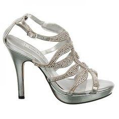 silver bridesmaid shoes