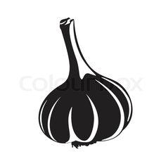 Icon Design, Logo Design, Food Icons, Vampires, Art World, Silhouettes, Illustrators, Stencils, Garlic