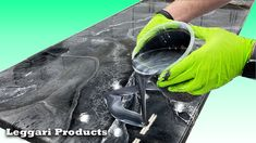 Use Epoxy To Resurface Countertops To Make A Faux Stone/Marble Look | DI...