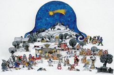It's Christmas season and time to get out our creche collection. We just added a new one, a paper cut out creche from the Czech Republic. Christmas And New Year, Christmas Time, Christmas Cards, Merry Christmas, New Year Celebration, Classical Art, Czech Republic, Winter Wonderland, Happy Holidays