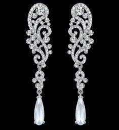 náušnice pre nevestu - krištálové kvapky Drop Earrings, Jewelry, Fashion, Moda, Jewlery, Jewerly, Fashion Styles, Schmuck, Drop Earring