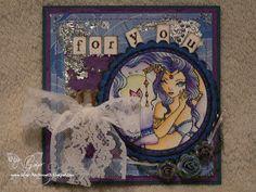 Sweet Pea Stamps,  Card, handmade, blue, Fantasy, Karte, handgemacht, Stempel,