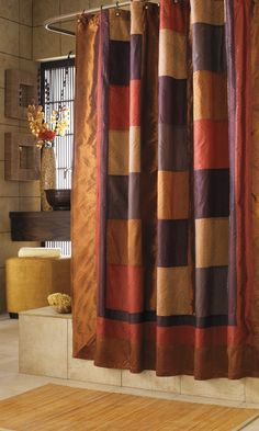 Kashmir Multicolor Southwestern Style Nylon Polyester Shower Curtain