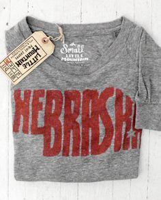 Little Mountain Print Shoppe — Nebraska Sweatshirt // Grey || Long sleeve (L)