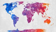 World map with an abstract acrylic texture. I would like to thank fellow dA artist Lara Mukahirn (aka TheParasiticBandaid) for painting the acrylic part. World Map - Exclusive Abstract Acrylic Map Painting, Painting Prints, Canvas Prints, Art Print, World Map Wallpaper, Watercolor Paint Set, World Map Art, Drawing, Images