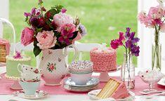decoração de festa chá da tarde - Pesquisa Google