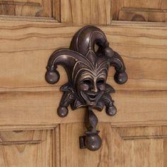 Solid Bronze Jester Door Knocker