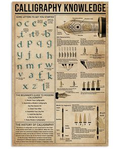 Calligraphy Knowledge shirts, apparel, posters are available at Ateefad Outfits Store. How To Write Calligraphy, Calligraphy Letters, Simple Life Hacks, Useful Life Hacks, Penmanship, Ex Libris, Survival Skills, Survival Gear, Writing Skills