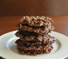 Lacy Chocolate Oatmeal Cookies are crispy and chewy at the same time.