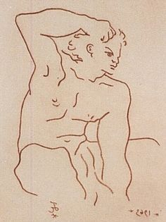 Jean Cocteau - The beauty of youth: Apollo in front of the mirror.