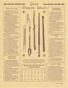 Your Magic Wand Parchment Book of Shadows Page! picclick.com