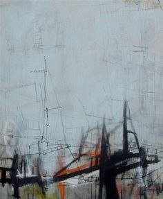 Jason Craighead, Structure 64 •  50w x 60h  •  mixed media on canvas