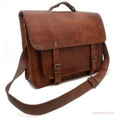 Leather Business Laptop Messenger