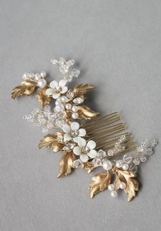 ZINNIA Floral Bridal Hair Comb 6