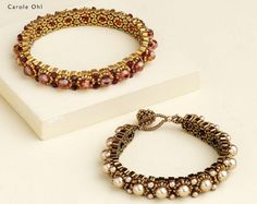 Triangle Beaded Bracelet (In Russian)  Interesting bracelets for you   Author: Carole Ohl