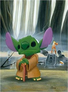 Star Wars Disney....stitch and yoda.....they could be BFFs!!!!