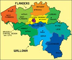 A recent map of #Belgium