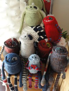 Can't give up that fav sweater? She can make you a snuggly monster from it - too cute!
