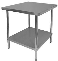 GSW Commercial Flat Top Work Table with Stainless Steel Top, 1 Galvanized Undershelf & Adjustable Bullet Feet, x x NSF Approved Stainless Steel Work Table, Bathroom Design Decor, All Stainless Steel, Office Furniture Accessories, Stainless Steel Table, Furniture Accessories, Industrial Chic Decor, Coffee Table, Work Table